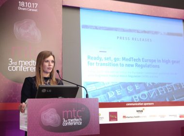 "Ομιλία: Diana Kanecka, Manager Regulations and Industrial Policy, MedTech Europe, Brussels - Τίτλος παρουσίασης: ""New E.U. medical devices and IVD regulations – challenge or an opportunity?"""